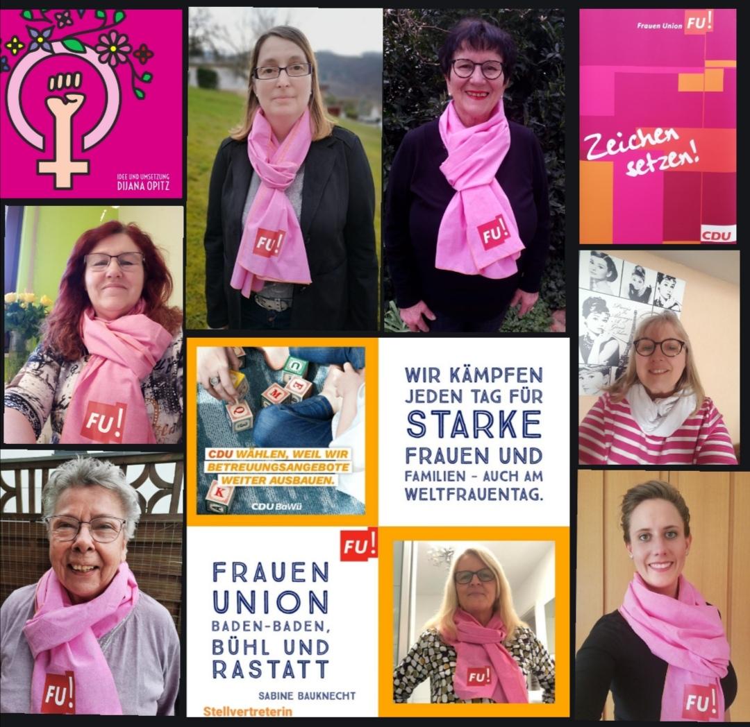 Cdu Gemeindeverband Buhlertal Aktion Zum Weltfrauentag Der Cdu Frauen Union Stadtverband Buhl Und Umland